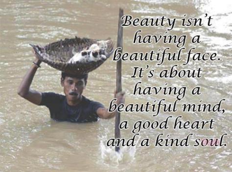 Beauty kind heart