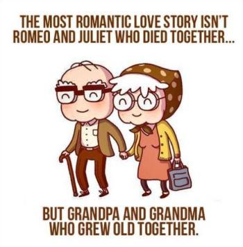 Romantic love grandma granddad