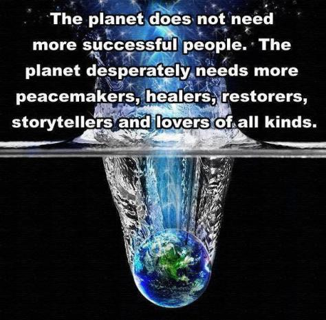 Planet needs healers