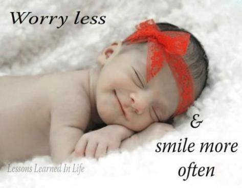Worry smile