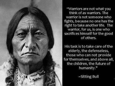 Warrior hippie peace