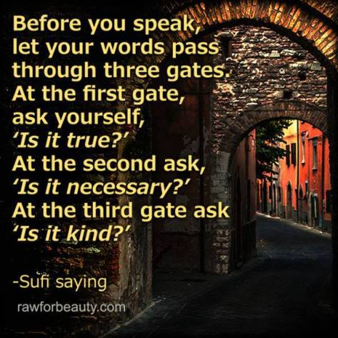 Before you speak gates